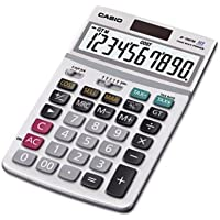 Casio JF100MS General Purpose Calculator - 10 Character(s) - LCD - Battery/Solar Powered - 1.3quot; x 4.2quot;