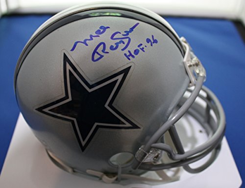 Autographed Mel Renfro Dallas Cowboys mini helmet with COA and Show ticket Autographed Cowboys Mini Helmet