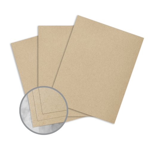 Loop Antique Vellum Straw Paper - 25 x 38 in 80 lb Text Antique Vellum 50% Recycled 1000 per Carton by Mohawk Fine Papers Loop Antique Vellum