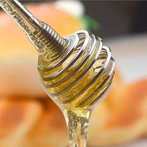 Price comparison product image Best Quality - Other Kitchen Specialty Tools - Stainless Steel Honey Dipper Stick,  Drizzle Honey with Ease,  No More Mess with Honey Dipping Unique Spiral Shape W8405 - by SeedWorld - 1 PCs