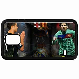 Personalized Samsung S5 Cell phone Case/Cover Skin Cr7 Lm10 Lionel Messi Football Black