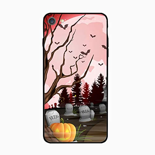 Halloween Castle and Graveyard Personalized Case Compatible for iPhone6, Shock Absorbing Protective Bumper Case, Birthday -
