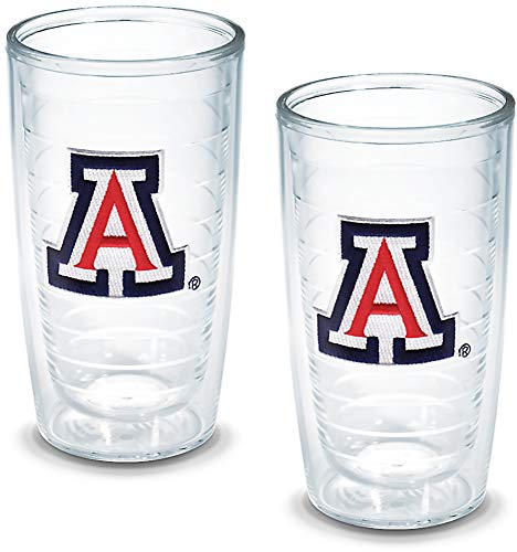 Tervis 1005822 Arizona University Emblem Tumbler, Set of 2, 16 oz, Clear