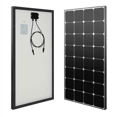 Renogy 100 Watts 12 Volts Eclipse Solar RV Kit with 30A PWM LCD Charge Controller/MC4 Connectors/Tray Cable/MC4 Connectors/Cable Entry housing for RV, Boat