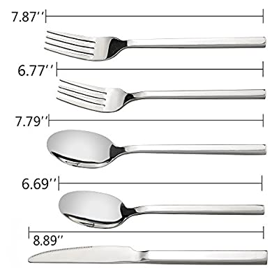 Doryh 40 Pieces Stainless Steel Flatware Sets, Service for 8