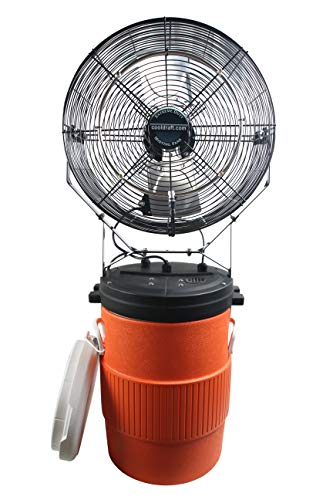 Ventamatic Premium Misting Fan w/Standalone Tank, Swamp Cooler for Commercial, Residential, Athletic (10 Gallon Mid Pressure)