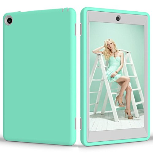 Price comparison product image MNtech New Fashion Kid Rugged Shockproof Protective Cover Case for Amazon Kindle Fire HD 8 2016 (Mint Green)