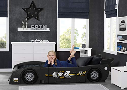 Delta Children Grand Prix Race Car Toddler & Twin Bed - Made in USA, Black 3