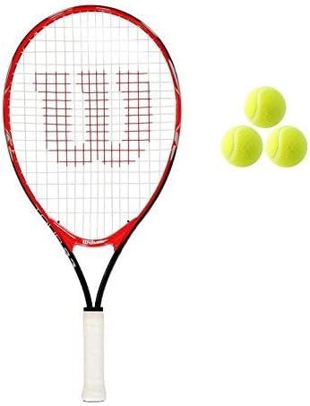 Wilson Tour Junior 19 21 23 25 Tennis Racket 3 Balls Pink Red Girls Boys 19 Red Amazon Co Uk Sports Outdoors