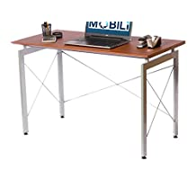 Techni Mobili Stylish Computer Office Desk, Mahogany