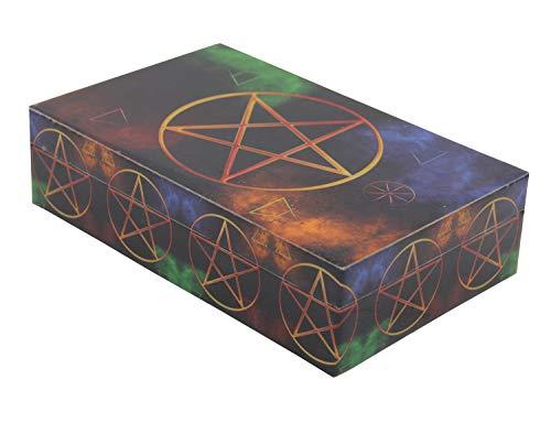 DharmaObjects Decorative Jewelry Trinket Keepsake Storage Box (Pentagram, 8