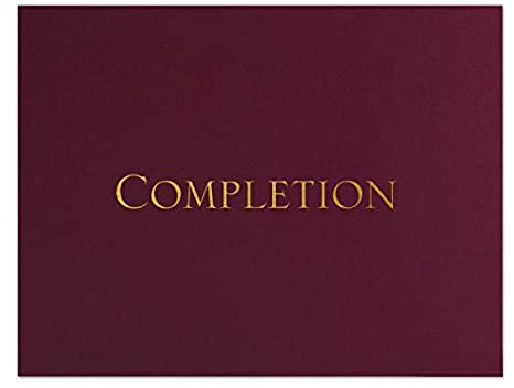 Amazon.com : Successories 751551M Completion Linen Certificate ...