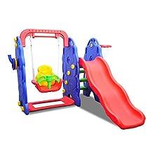 HOMCOM Children's Slide Play Set Kids Slide Swing Outdoor Toy Sports Gift