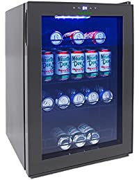 NutriChef AZPKTEBC70 70l Beverage and Wine Cooler Combination, Black