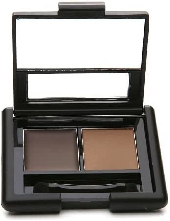 e.l.f. Cosmetics Eyebrow Kit, Brow Powder and Wax Duo for More Defined Eyebrows, Brush Included, Medium Tint