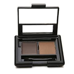 e.l.f. Cosmetics Studio Eyebrow Kit is the perfect tool for fabulously thick and defined eyebrows. The pigmented wax defines and shapes brows and the color complementing setting powder gives them long-lasting style. A double sided taklon brus...