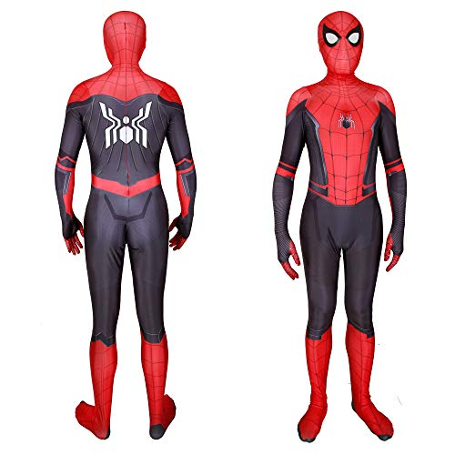 Halloween 2019 New far from Home New Spiderman Cosplay Costumes Hoodie (Kids-XL, Far from Home]()