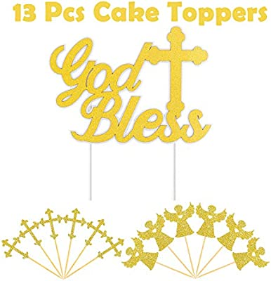 Amazon.com: WATINC - Decoración para tarta de bautizo ...