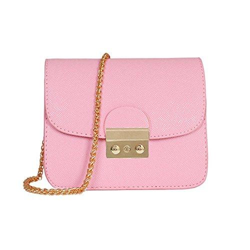 Eysee - Bolso cruzados para mujer rosa morado 18cm*14cm*8.5cm rosa