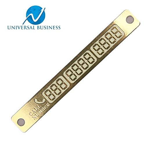 Temporary Parking Card With Suckers And Night Light Phone Number Card Plate Golden for All Models by UNIVERSAL - Indian Shopping Online List Sites