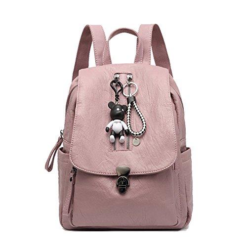Signora Big Selvaggio Alla Borsetta Casual Viaggio Bag Semplice Ajlbt Pink Moda Zaino Temperamento 18YxRInqd