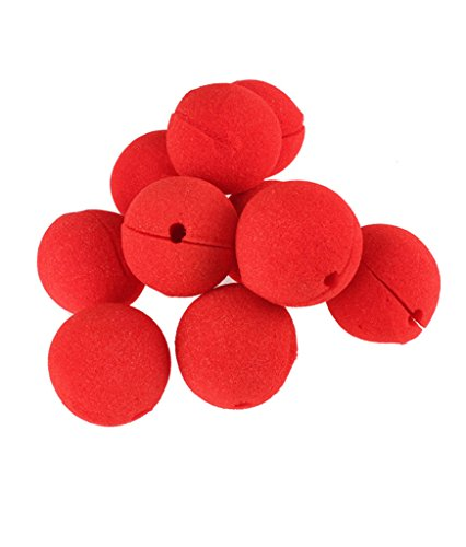 Appropriative Costume (Distinct 10 PCS Magic Sponge Ball Red Clown Nose for Halloween party Masquerade Decoration)