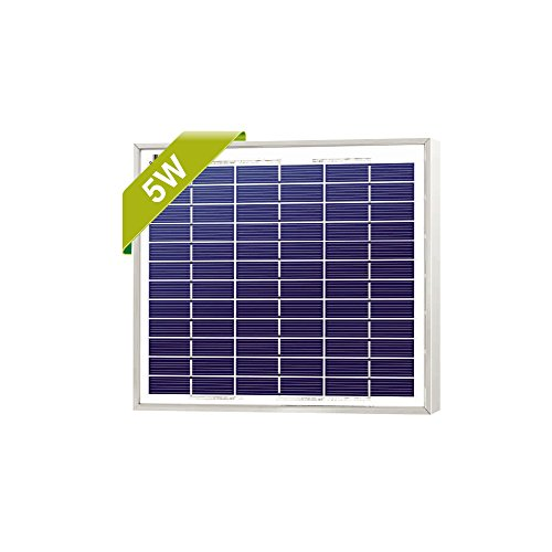 NewPowa High Efficiency 5W 12V Poly Solar Panel Module RV Marine Boat Off Grid