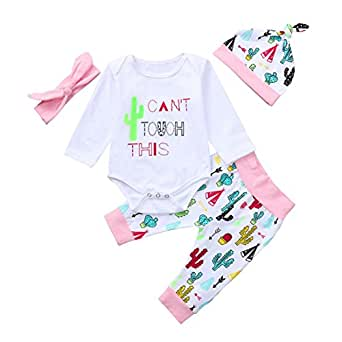 11149ed11 Amazon.com  Kid Girl Letter Cartoon Alpaca Print Long Sleeve Romper+ ...