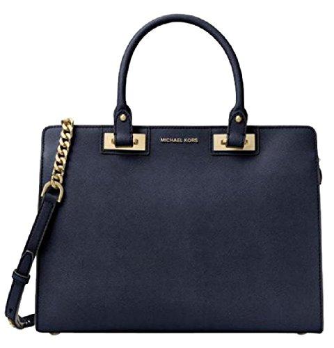 michael-kors-quinn-large-saffiano-leather-satchel-navy-blue