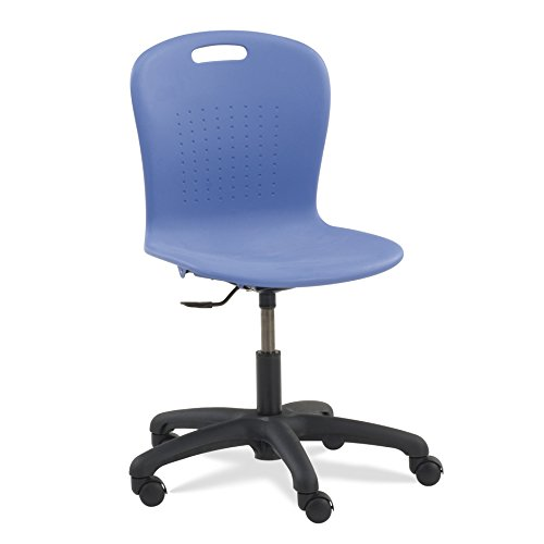 Virco SGTASK18 Task Chair , Black Soft Plastic Shell, Adjustable seat height, Chrome Frame (1 - Task Shell