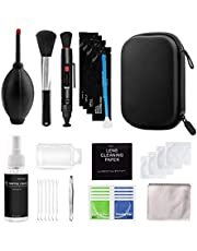 SOLUSTRE 29PCS Professional Camera Cleaning Kit (with Waterproof Case), Including Cleaning Solution/ 5 APS- Cleaning Swabs//Air Blower/Cleaning Cloth for DSLR Cameras