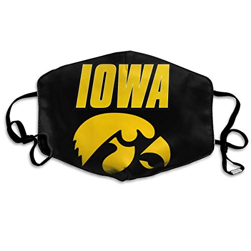SyjTZmopre Iowa Hawkeyes-Wordmark 2002 Logo Mouth Mask Unisex Printed Fashion Face Anti-dust Masks -