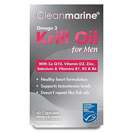Aceite de krill Cleanmarine Hombres 60mg: Amazon.es: Salud y ...