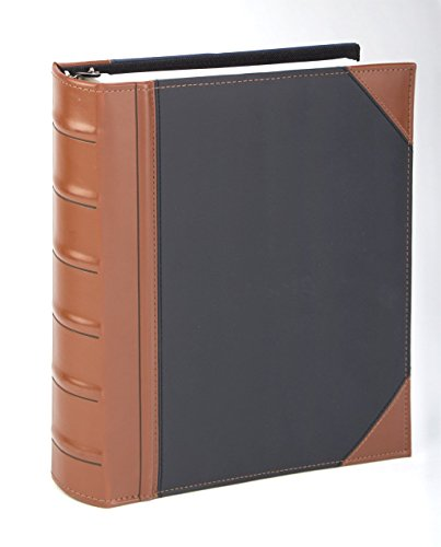Executive Binder, English Leather 2 Tone with Stitching and Ribbed Spine, Heavy Duty 1