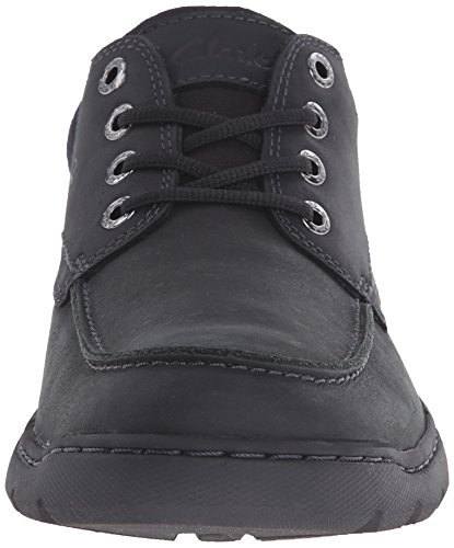 Clarks Mens Newbern Walk Oxford Black Leather