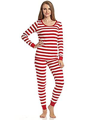 """Leveret Women's """"Fitted Striped"""" Pajama 100% Cotton (XS-XL)"""