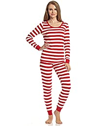 "Women's""Fitted Striped"" Pajama 100% Cotton (XS-XL)"