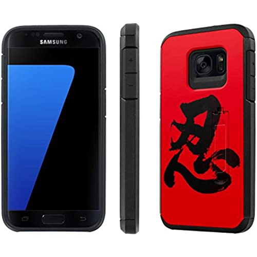 Galaxy [S7] [5.1 Screen] Defender Hybrid Case [SlickCandy] [Black/Black] Dual Layer Protection [Kick Stand] [Shock Proof] Phone Case - [Nintai] for Samsung Sales