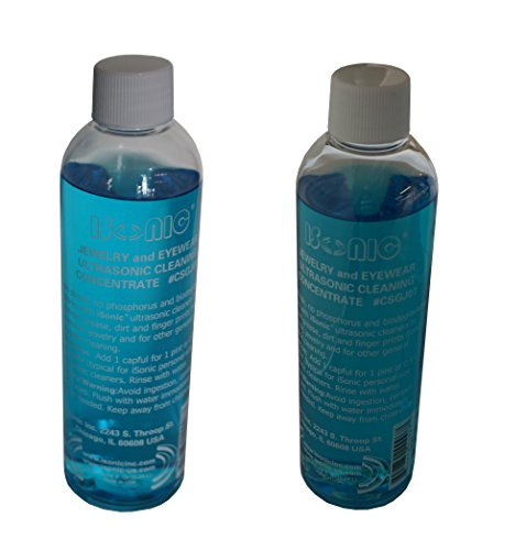 Isonic Csgj01 8Ozx2  Ultrasonic Jewelry Eye Wear Cleaning Solution Concentrate  Pack Of 2