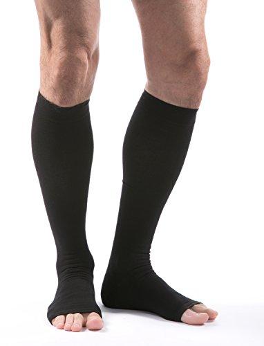 - Allegro 15-20mmHg Premium 115 Italian Cotton Knee High Open Toe Compression Sock