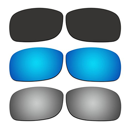 3 Pair COODY Replacement Polarized Lenses for Ray-Ban RB4057 61mm Sunglasses Pack - Replacement Lenses Rb4057