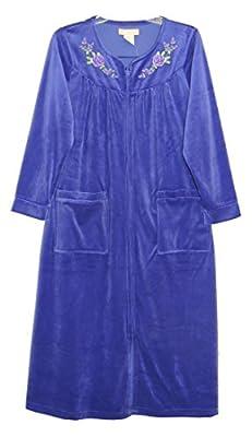 La Cera Long Sleeve Zip Front Robe Plus Size