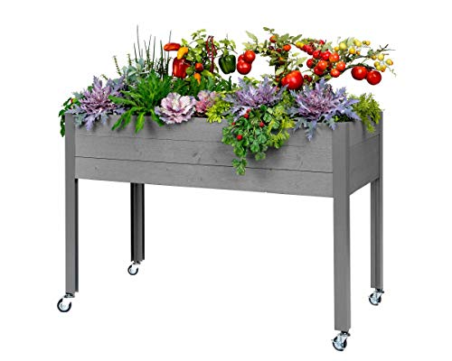 (CedarCraft Elevated Spruce Planter - Gray (21