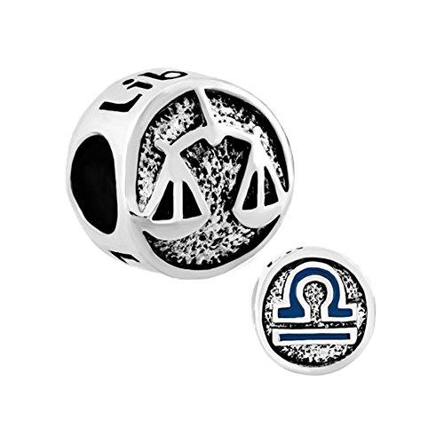 Libra Zodiac Symbols (LovelyJewelry Libra Horoscope Zodiac Sign Symbol Lucky Charms Beads For Bracelet)