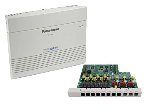 Panasonic KX-TA824 Hybrid Phone System + KX-TA82483 3x8 Expansion Card - 1 Year Warranty