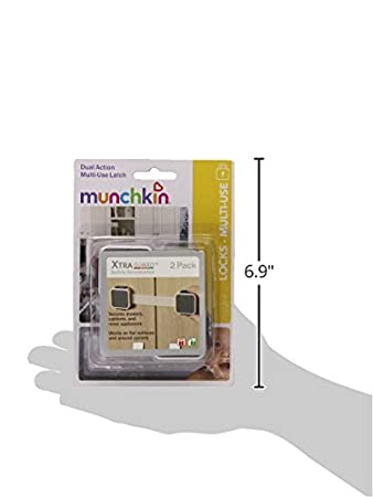 2 Count w// Flexible stra 2Pack Munchkin Xtraguard Dual Action Multi Use Latches