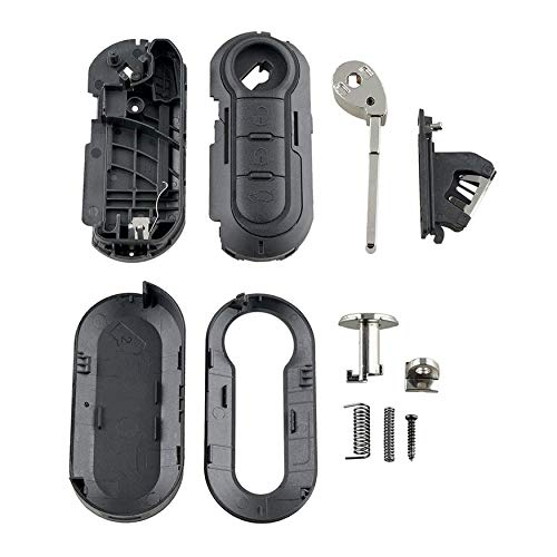 N / A past voor FIAT GRANDE PUNTO 500 BRAVO DUCATO PANDA 3 Knop SLEUTEL FOB AFSTANDSBEDIENING CASE 3-key case Key…