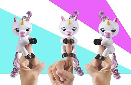 WowWee Fingerlings Baby Unicorn - Gigi (White with Rainbow Mane and Tail) - Interactive Baby Pet