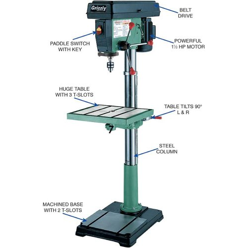 how to change speeds drill press