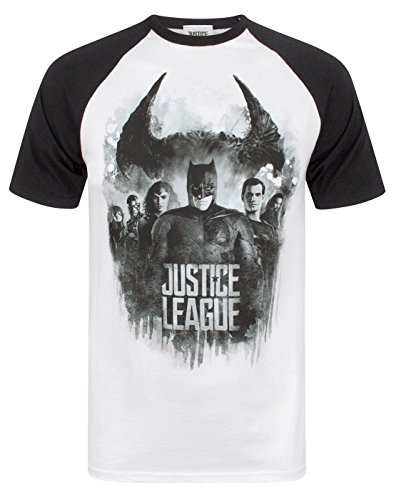 Amazon.com: Justice League Character Line Up Raglan Mens T-Shirt: Clothing